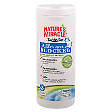 NATURE'S MIRACLE® Allergen Blocker Household Cat Wipes