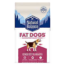 Natural Balance Fat Dogs Adult Dog Food - Chicken Meal, Salmon Meal & Garbanzo Beans, Weight Control