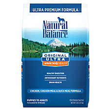 Natural Balance Original Ultra Whole Body Health Dog Food- Gluten Free, Chicken, Chicken & Duck Meal