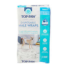 Top Paw® Disposable Male Wrap Dog Diapers