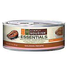 Simply Nourish™ Essentials Adult Cat Food - Natural, Salmon, Pate