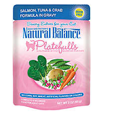 Natural Balance Platefulls Adult Cat Food - Grain Free, Salmon, Tuna & Crab