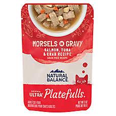 Natural Balance Platefulls Adult Cat Food - Grain Free, Salmon, Tuna & Crab
