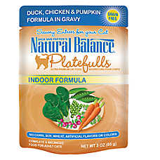 Natural Balance Platefulls Indoor Adult Cat Food - Grain Free, Duck, Chicken & Pumpkin