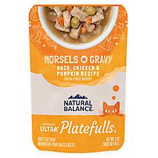 Natural Balance Platefulls Indoor Adult Cat Food - Grain Free, Duck, Chicken & Pumpkin