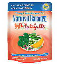 Natural Balance Platefulls Adult Cat Food - Grain Free, Chicken & Pumpkin
