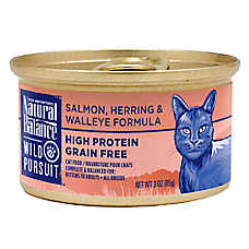 Natural Balance Wild Pursuit Cat Food - High Protein, Grain Free, Salmon, Herring & Walleye