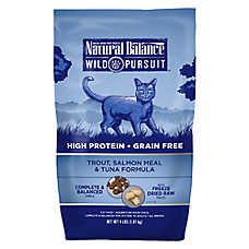 Natural Balance Wild Pursuit Cat Food - High Protein, Grain Free, Trout, Salmon Meal & Tuna