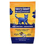 Natural Balance Wild Pursuit Cat Food - High Protein, Grain Free, Chicken, Turkey Meal & Quail