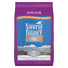 Natural Balance Indoor Ultra Adult Cat Food - Chicken Meal & Salmon Meal
