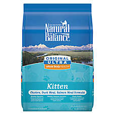 Natural Balance Original Ultra Whole Body Kitten Food- Gluten Free, Chicken, Duck Meal & Salmon Meal