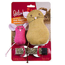 Petlinks® Knit Nipper™ Cat & Mouse Cat Toy - Catnip