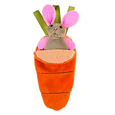 Petlinks® Hid & Peek™ Carrot Cat Toy - Catnip