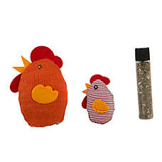 Petlinks® Knit Nipper™ Chick & Chicken Cat Toy - Catnip