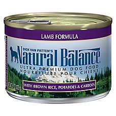 Natural Balance Ultra Premium Dog Food - Lamb