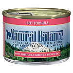 Natural Balance Ultra Premium Dog Food - Beef