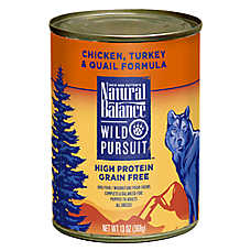 Natural Balance Wild Pursuit Dog Food - High Protein, Grain Free, Chicken, Turkey & Quail