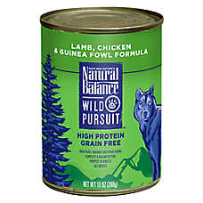 Natural Balance Wild Pursuit Dog Food - High Protein, Grain Free, Lamb, Chicken & Guinea Fowl