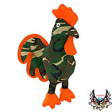 Bret Michaels Pets Rock™ Camo Ballastic Rooster Dog Toy - Squeaker