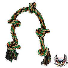 Bret Michaels Pets Rock™ Camo 5 Knot Dog Toy