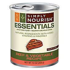 Simply Nourish™ Essentials Adult Dog Food - Natural, Beef & Vegetable