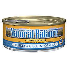 Natural Balance Ultra Premium Cat Food - Turkey & Giblets