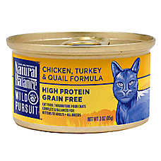 Natural Balance Wild Pursuit Cat Food - High Protein, Grain Free, Chicken, Turkey & Quail