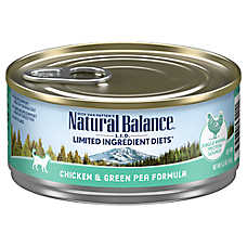 Natural Balance Limited Ingredient Diets Cat Food - Grain Free, Chicken & Green Pea