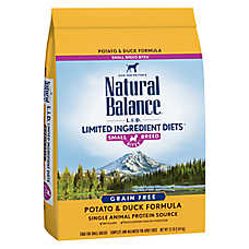 Natural Balance Limited Ingredient Diets Dog Food - Grain Free, Potato & Duck, Small Breed