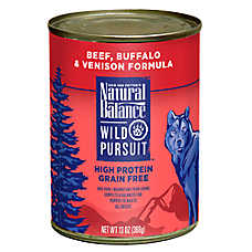 Natural Balance Wild Pursuit Dog Food - High Protein, Grain Free, Beef, Buffalo & Venison