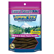 Natural Balance Limited Ingredient Grain Free Mini Jumpin Stix Venison & Sweet Potato Dog Treat