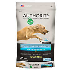 Authority® GNC Pets® Skin, Coat+ Digestive Health Support Adult Dog Food - Grain Free, Fish & Potato