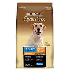 Authority® Grain Free Large Breed Adult Dog Food - Chicken & Pea