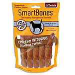 SmartBones® Chicken Wrapped Stuffed Twistz with Pork Dog Treat