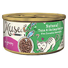 Muse® Adult Cat Food - Essential Nutrients, Natural Tuna & Shrimp, In Gravy