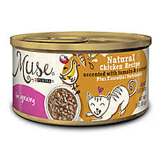 Muse® Adult Cat Food - Essential Nutrients, Natural Chicken with Tomato & Carrot, In Gravy