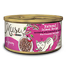 Muse® Adult Cat Food - Essential Nutrients, Natural Salmon with Tomato & Spinach, In Gravy