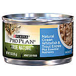 Purina® Pro Plan® TRUE NATURE™ Adult Cat Food - Natural, Whitefish & Trout