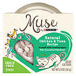 Muse® Adult Cat Food -Grain Free, Essential Nutrients, Natural Chicken & Tuna with Shrimp Topper