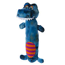 "Toys""R""Us® Pets Tyrannosaurus or Triceratops Dinosaur Long Body Dog Toy - Squeaker"