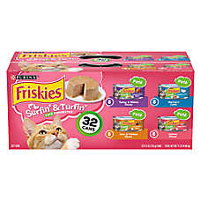 Purina® Friskies® Cat Food - Surfin' & Turfin, Classic Pate, 32 Can Value Pack