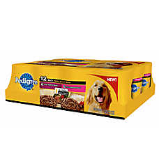 PEDIGREE® Meaty Ground Dinner Dog Food - Beef, Skin & Coat, 12 Pack