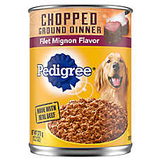 PEDIGREE® Meaty Ground Dinner Dog Food - Filet Mignon, SKin & Coat