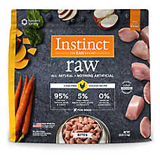 Nature's Variety® Instinct® Raw Bites Dog Food - Natural, Grain Free, Frozen Raw, Chicken