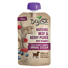 Purina® Beyond® Meal Enhancement Dog Food Mixer - Natural Beef & BerryPuree, Immune System