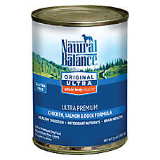 Natural Balance Original Ultra Whole Body Health Dog Food- Gluten Free, Chicken, Salmon & Duck