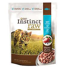 Nature's Variety® Instinct® Raw Bites Cat Food - Natural, Grain Free, Frozen Raw, Chicken & Tuna