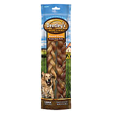 dentley 39 s nature 39 s chews natural braided bully sticks large dog treat dog bones rawhide. Black Bedroom Furniture Sets. Home Design Ideas
