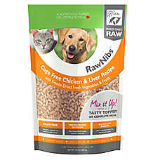 Only Natural Pet RawNibs Pet Food - Freeze Dried Raw, Grain Free, Chicken & Liver