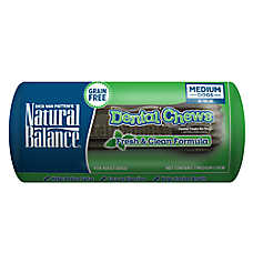 Natural Balance Grain Free Fresh & Clean Medium Dog Dental Chews